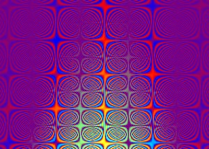 "This is an image I created in the scientific programming environment Matlab while doing some maths, trying to understand a particular aspect of stereo (""3D"") vision. The funny thing is that I can now no longer even remember how I generated it! I think it is probably a Fourier phase spectrum of some sort. I threw up this image in my work, saved the figure, and carried on. Much later I came back to it and was struck by how beautiful and complex it is. In its repeating cells of interlocking curves, it reminds me of Celtic knotwork like that found in the Lindisfarne gospels."